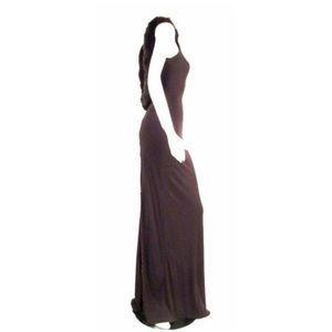jiki Monte-Carlo Creations Dresses - Jiki Monte-Carlo Creations Fox Fur Trim Gown